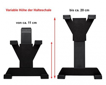 mobilefox® 360° KFZ Kopfstützen Halterung Tablethalterung Auto Sitzhalterung Headrest Holder Halter für Tablet PC Samsung Galaxy Tab 4 / 3 / 2 / S / A / Note / NotePRO/ TabPRO / Active / Ativ / Ativ Q / Lite 7 / 7.0 / 7.7 / 8.0 / 8.4 / 8.9 / 10.1 / 10.5 / 12.2 -